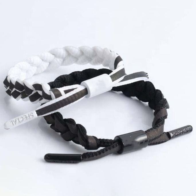 Adjustable Size Dazzling Lion Head Accessories Reflective Shoelace Couple Bracelet
