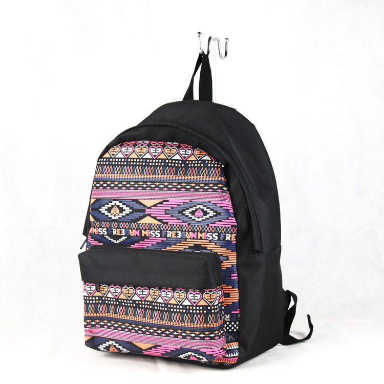 the character designed large capacity silk print backpack women backpack bag