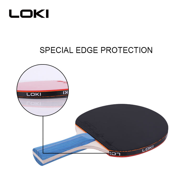 LOKI PingPong Paddle Kits- 4 Premium Bats 8 ABS Balls Retractable Net Stand Carry Bag Pack