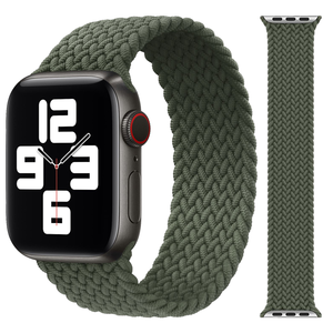 HLX Braided Solo Loop Strap For Apple Watch 6/SE Nylon Bands 38/40/42/44mm For IWatch Sport Watchbands