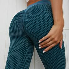 Women Yoga Seamless Stretchy Compression Anti Cellulite Textured Leggings De Deporte