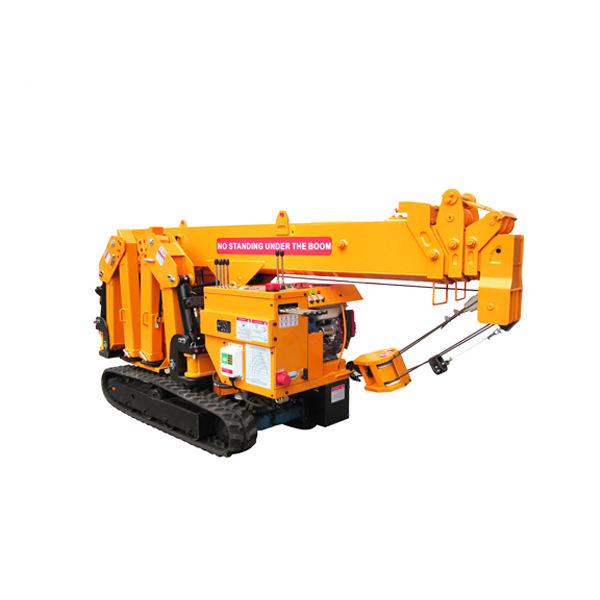 China New 3T Foldable Super Mini Spider Crane with Free Shipping and Overseas Training