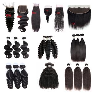 Factory Directly Wholesale 10a Weave Human Virgin Brazilian Hair Bundles,Cuticle Aligned Virgin Hair Bundles With Closure