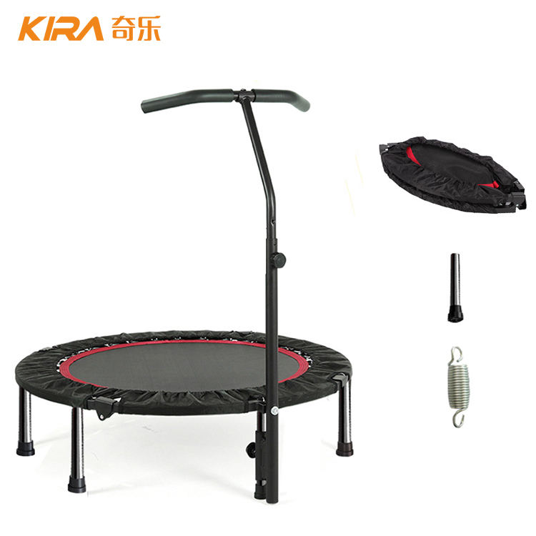 40inch indoor mini fitness trampoline with handle