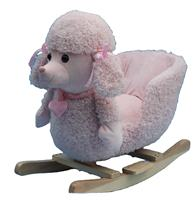 Pink Poodle Toddler Rocking Riding Animal Toy with soft music effect