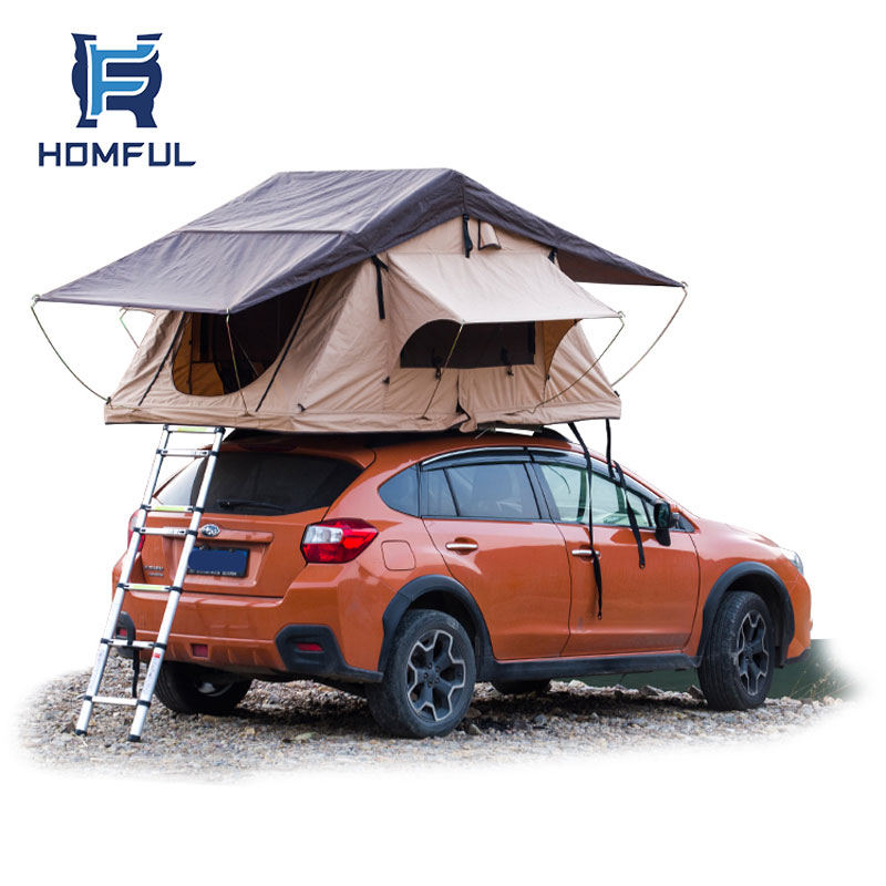 HOMFUL Universal Faltbare Auto Dach Top Zelt Camping Outdoor mit freies leiter