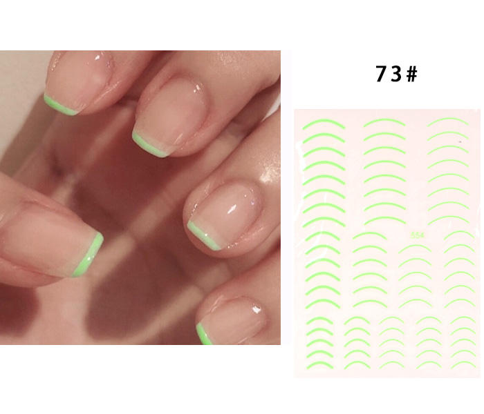 TSZS Summer Smile New colorful Self-Adhesive Line Nail Sticker 3D Stripe Liner Neon Stickers Fluorescent Decal Nail Art