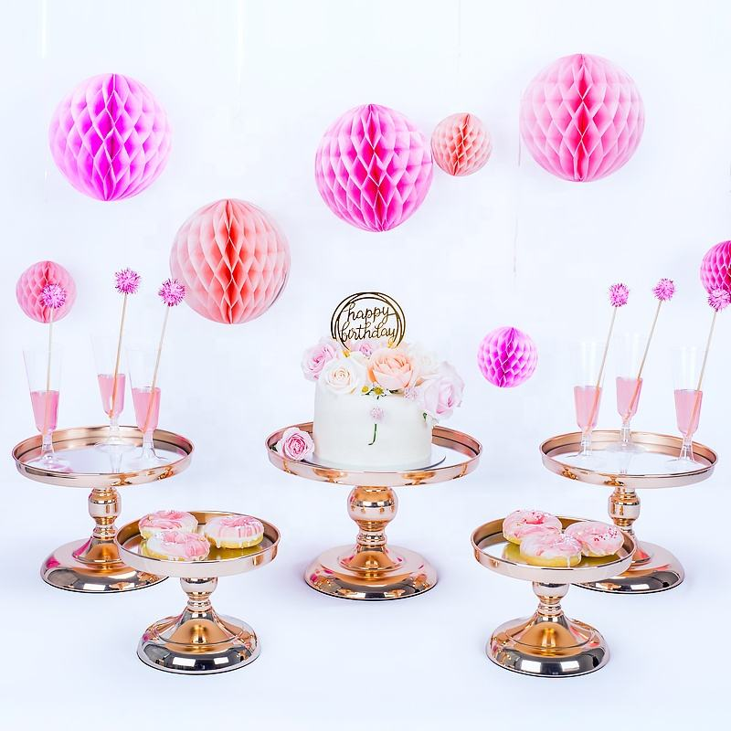 gold silver round hanging crystal beaded multilevel metal wedding cupcake mini cake stand set decorating galvanized mirror