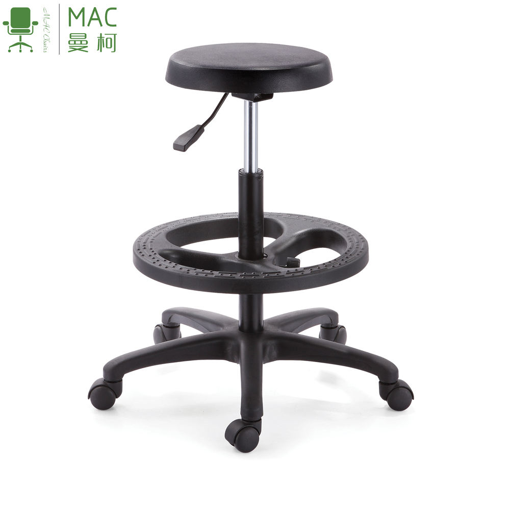 Simple pu round seat stool laboratory sillon ejecutivo regulable sillas taburete laboratorio quimica