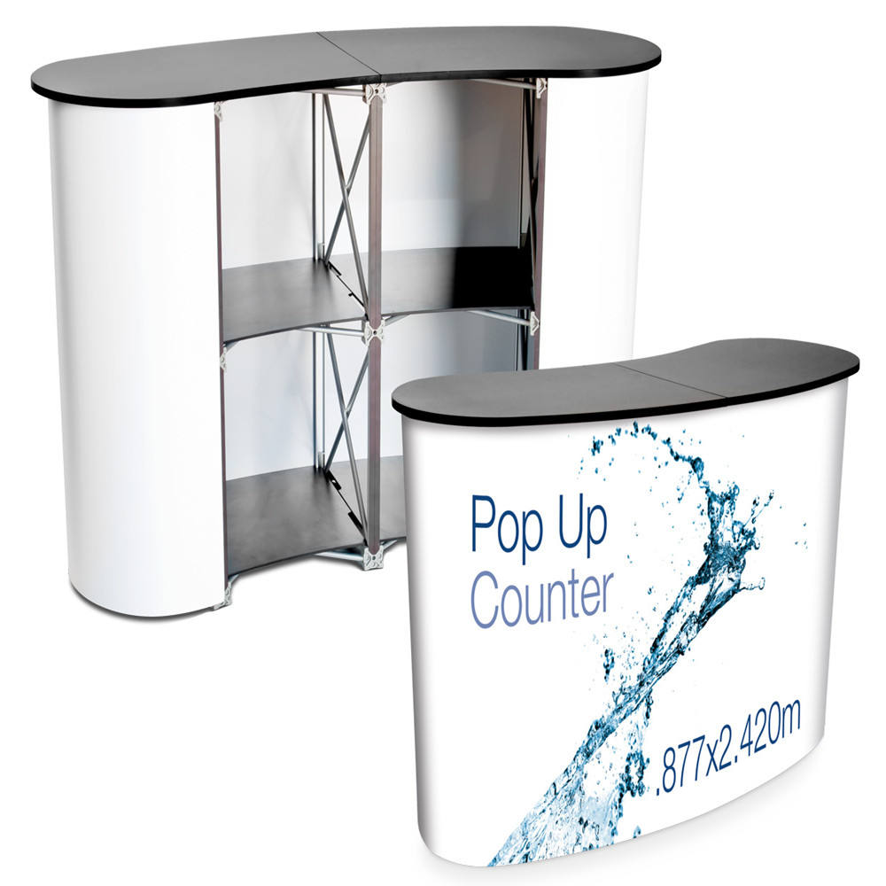 Aluminum Frame Exhibition Trade Fair Promotion Pop Up Counter, Promotion Booth Table