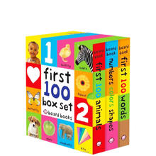 Custom baby English learning first 100 words children board book printing