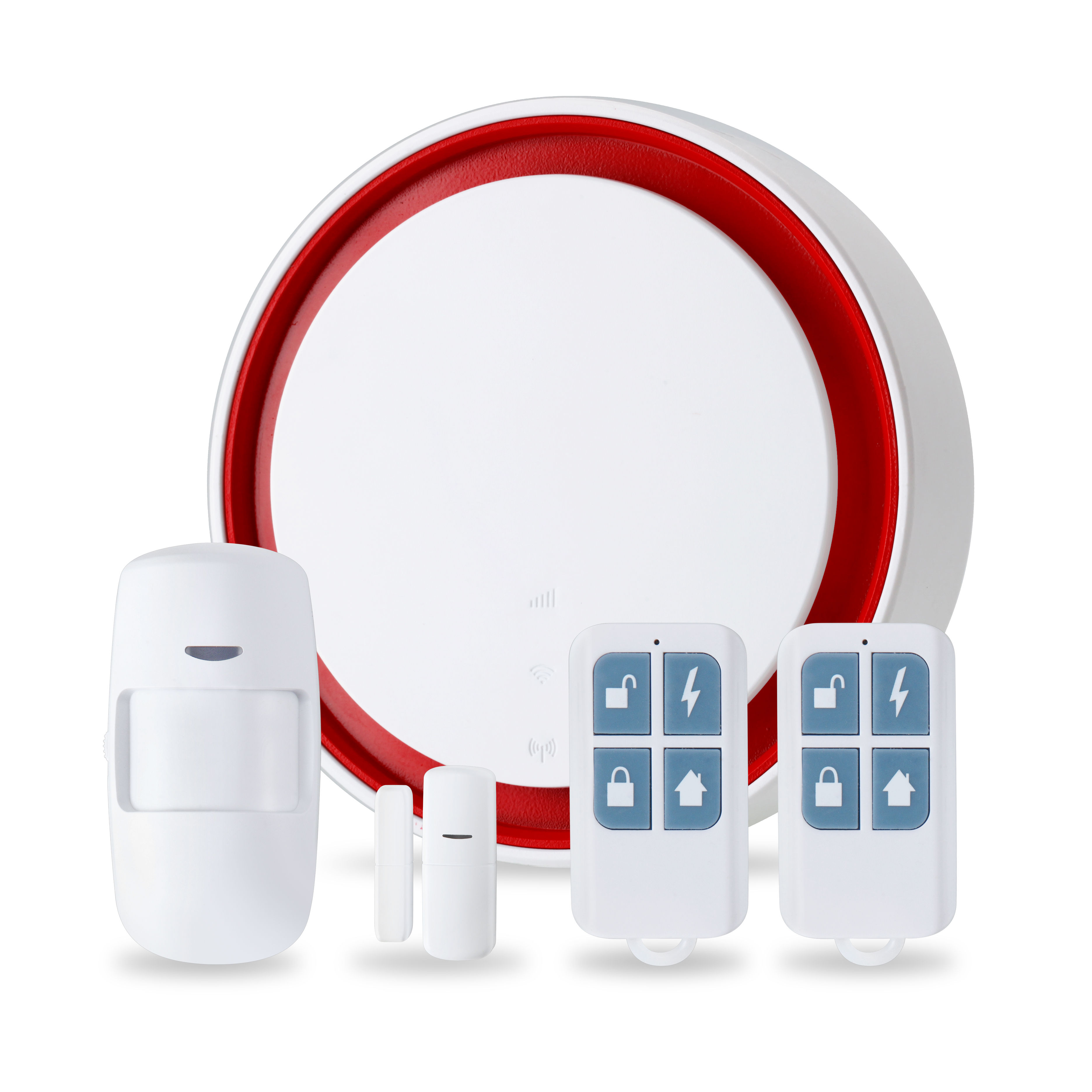 Easy installation personal TUYA wireless alarm support gsm and wifi for shop,home,company,