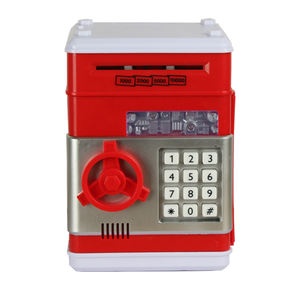 Hot sell ATM piggy coin bank toys automatic kids atm money savings box with time