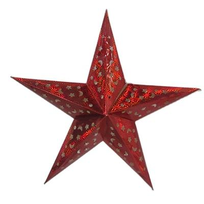 Outdoor christmas paper star hanging decoration