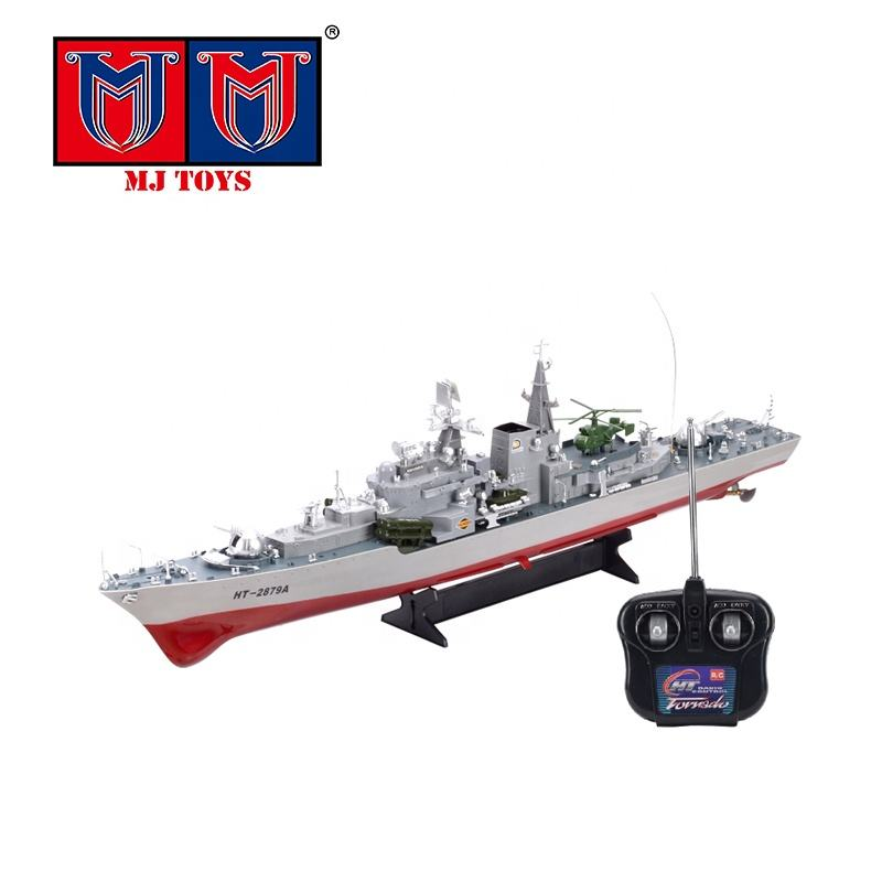 Remote control battleship model 1:275 scale military toy rc destroyer boat for sale