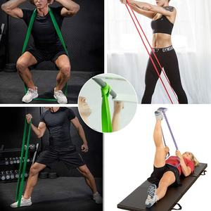 2080Mm Pull Up Resistance Band Sets 6 Stuks 6 Kleuren Lbs Latex Oefening Resistance Bands