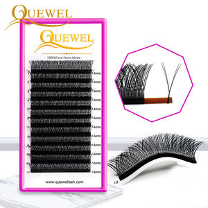 Custom Private Label Custom Box Wholesale Price 8-18mm Quewel Y Shape Lash Y Lashes Eyelash Extension