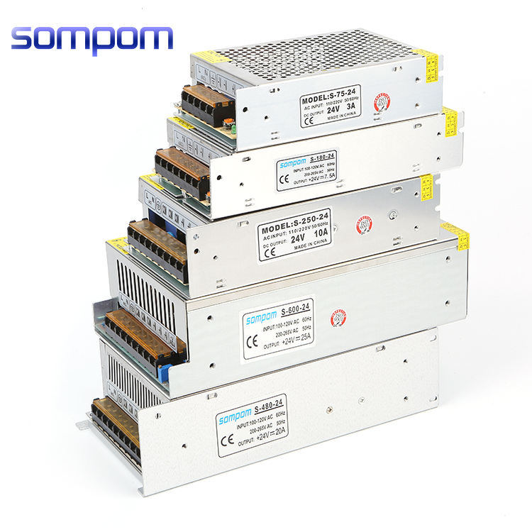 OEM 220v 240v ac to 5v 12v 24v 36v 48vdc smps universal output 50w to 400w switching power supply