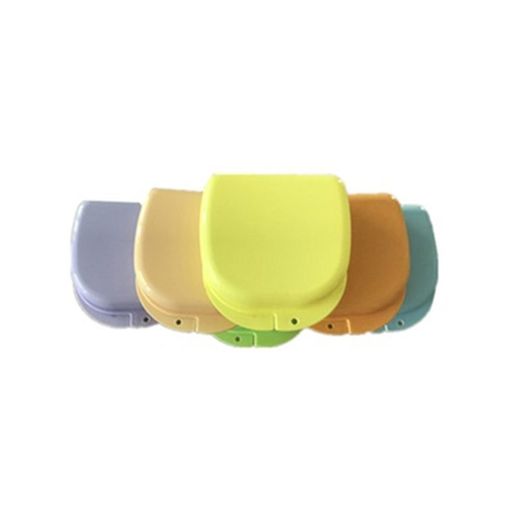 Safety supply Colourful plastic membrane box Dental Retainer Case