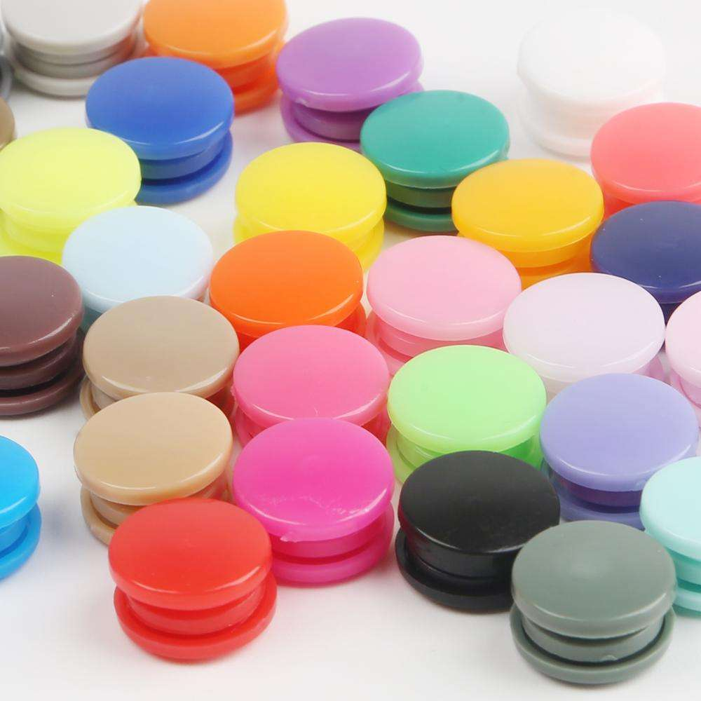 20 Sets T5 12MM Round Plastic Snaps Button Fasteners Quilt Cover Sheet Button Garment Accessories for Baby Clothes Clips