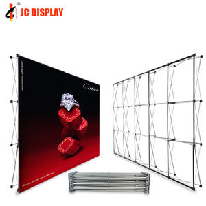 Durable handel zeigen exhibit display pop up stand zurück drop display