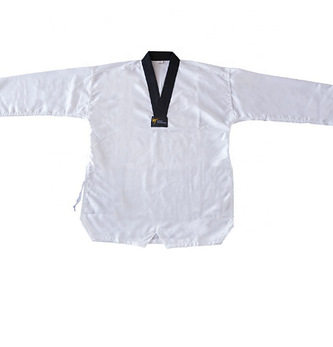 Hot Selling Black collar Dobok taekwondo WTF Approved