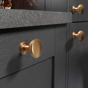 Gold drawer cabinet kitchen bathroom zinc alloy pull handles and knobs