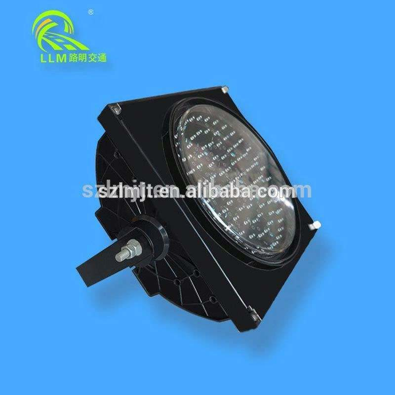 Road safety 96pcs LED built-in 300mm Factory Price Traffic Light Solar LED Flashing Warning Light Road Blinker