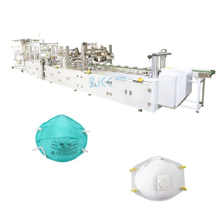 Full-Automatic Head Loop N95 Cup Anti Dust FFP3 Mask Making Machine