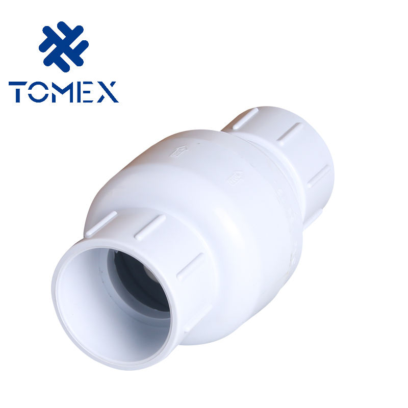 High Quality PVC Pipe Fittings PVC Spring Check Valve with EPDM O-ring