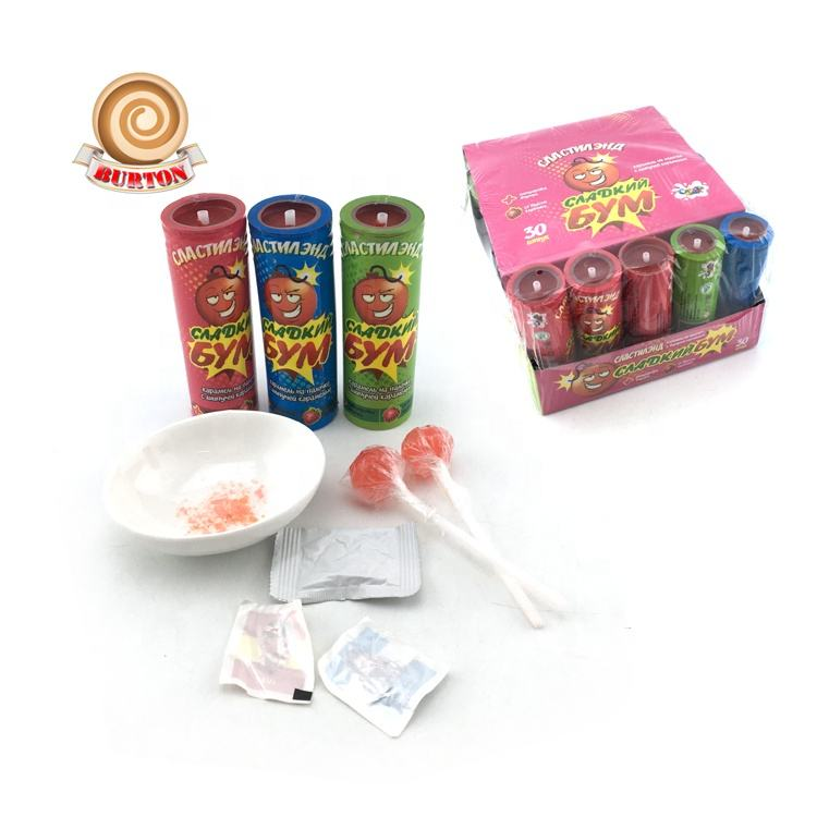 Novelty firecracker Lollipop พร้อม popping Candy TATTOO