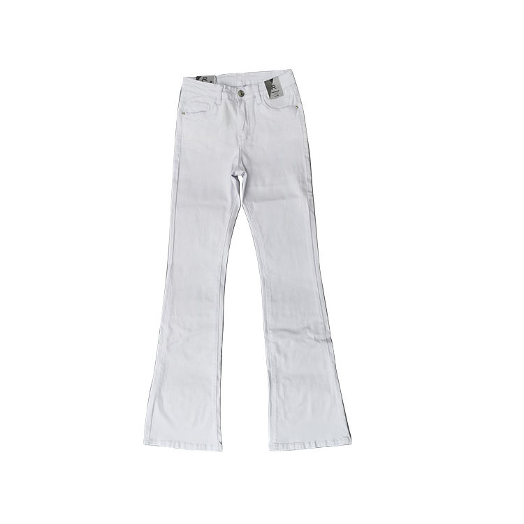 high quality new custom white women's skinny summer pencil jeans