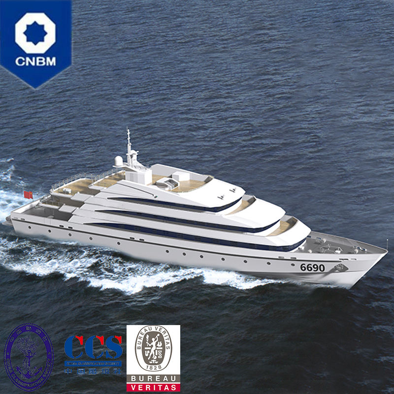 219ft 550 Seats Steel Aluminum Composite Luxury Sightseeing Tour Ship Fast Passenger Boat Ferry for Sale