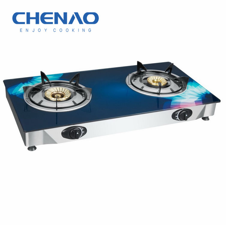 Bếp Gas Nồi 7 Mm Tempered Glass 2 Burner Bếp Gas