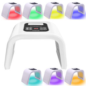Home Salon 7 Colors Photon 660nm 850nm Red Light Face Therapy Panel Korean Facial Skin Care LED Light PDT Therapy Machine