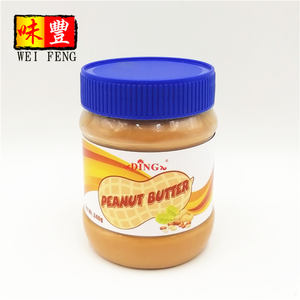 OEM Factory Wholesale Price Natural Smooth Sauce Plastic Jar Bottle Spread Bread Paste 400g Peanut Butter
