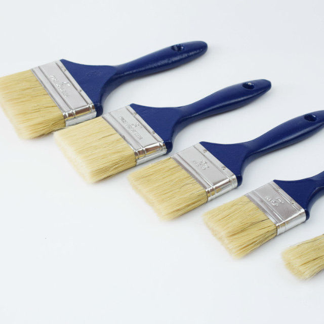 Pure Bristle Paint Brush With Wooden Handle Manufacturer In Brush