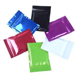 In Stock 9x13cm Resealable Smell Proof 3 Side Seal Metallic Mylar Ziplock Black Aluminum Foil Zip Lock Plastic Bag Small