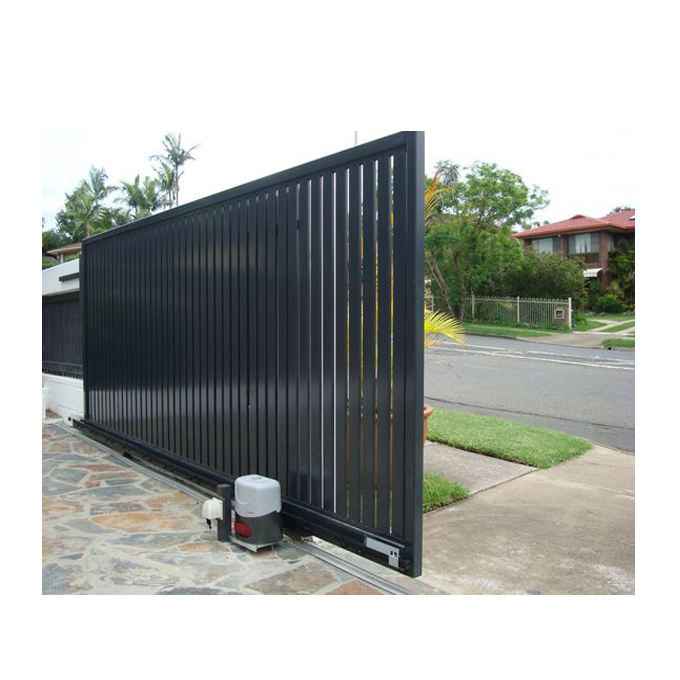 Modern Design Motorized Automatic Aluminum Driveway Gate Louver Fence Gate For Home And Garden