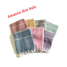100% Cotton Striped Turkish Towels Peshtemal Beach Bath Swimming Pool Yoga Picnic