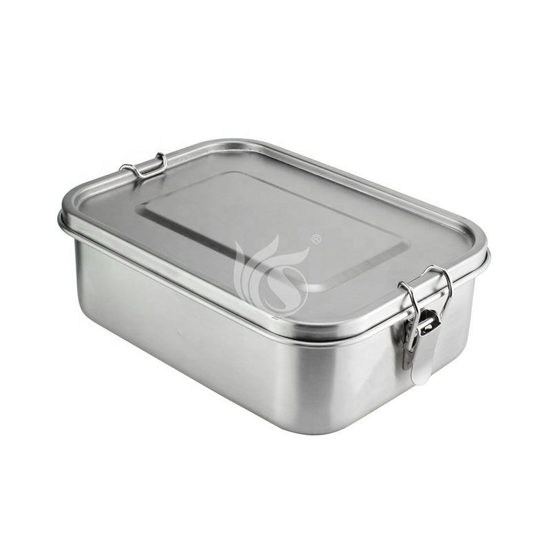 800/1400ml Bento Lunch Box Stainless Steel Lunch Containers Leakproof Metal Lunch Containers for Kids Adults