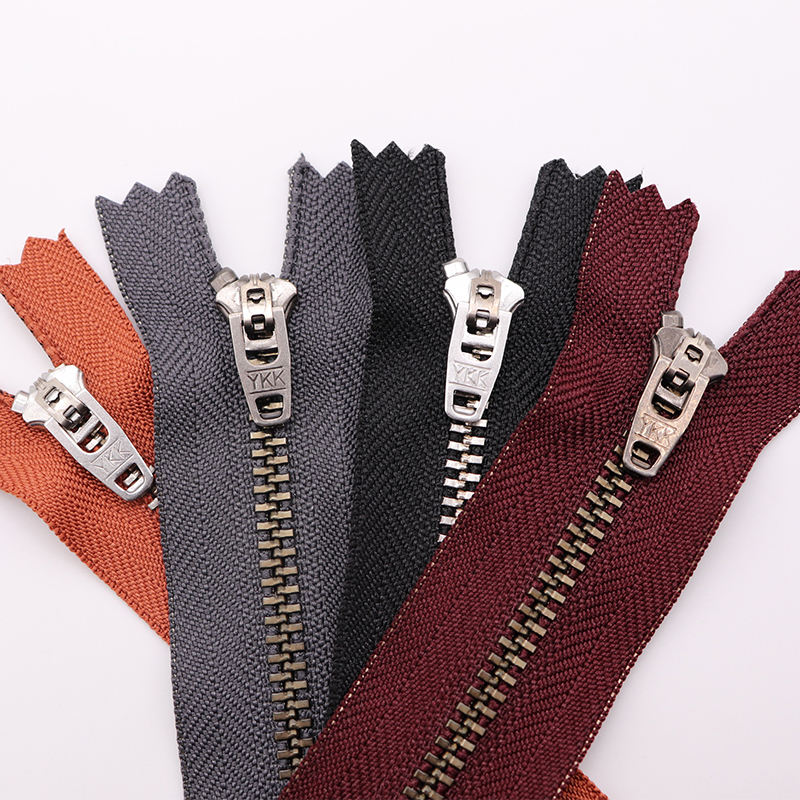 wholesale yk k fancy metal teeth 3YG 4.5YG 4yg 5yg metal zipper for jeans