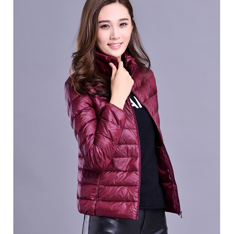 woman coat garments buyer in europe and fashion pretty Windproof ultralight Folding Ladies Light Down Jacket