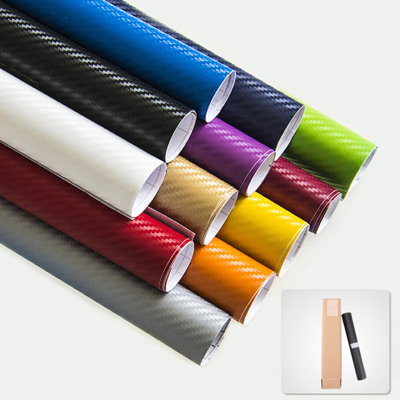 1.27m*28m Car Decoration Wrap 3D Carbon Fiber Vinyl Sticker Film