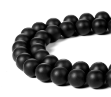 Hot sale round bead gemstone black matte onyx loose bead 10mm stone beads for jewelry making