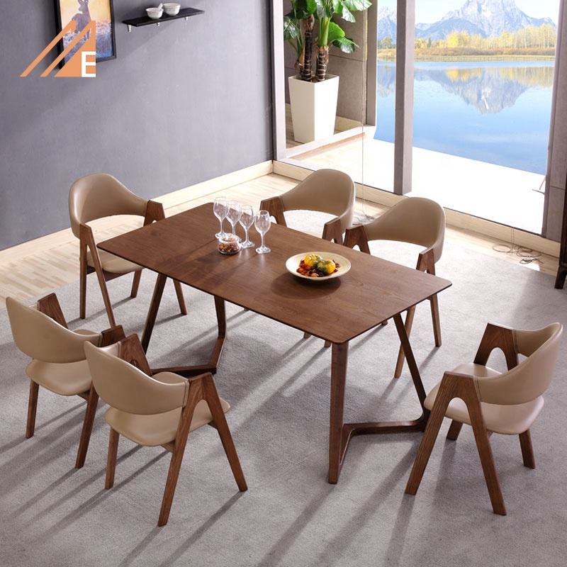 Simple Wood Furniture Dining Table Set For Restaurant