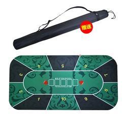 Portable Texas Poker Mat 1.2x0.6m Rubber Table Cloth Casino Poker Board Game Pad 10 seats Poker Table Mat