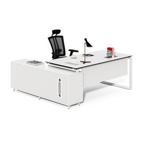 Italian design white high gloss office desk combination desk and table