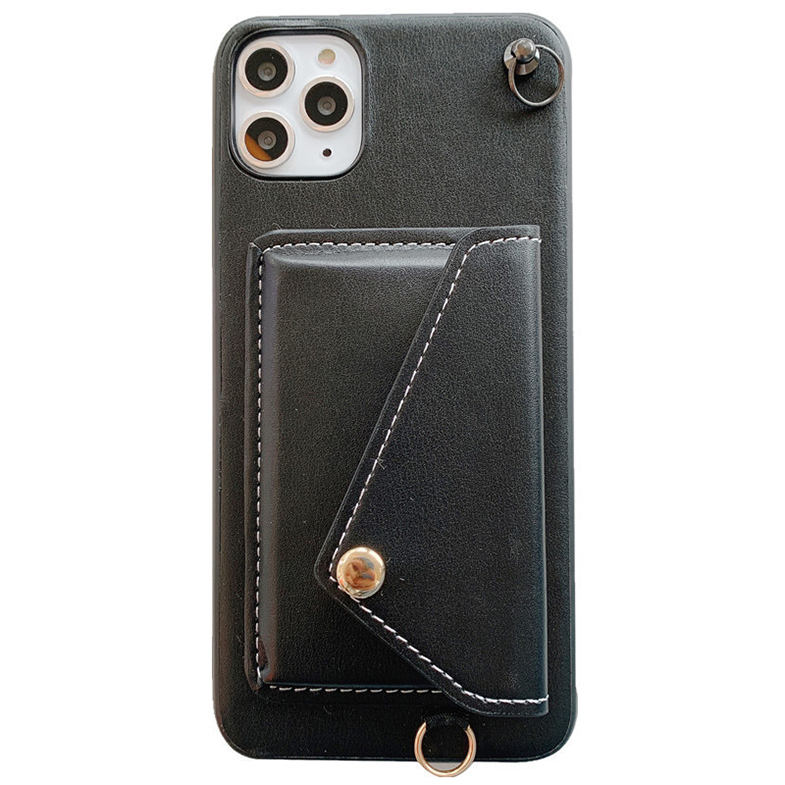 Biodegradable TPU + Pu Kalung Nyata Dompet Eco Kulit Cross Tubuh Tali Phone Case