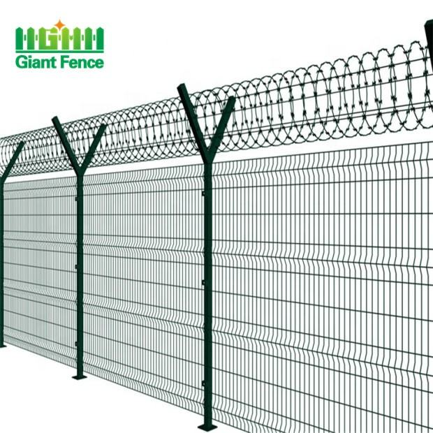Factory Wholesales Prices PVC Coated Welded Security Airport Fence